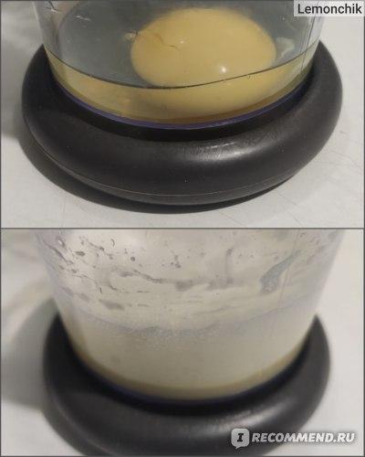 Блендер Polaris PHB 1583L Silent. Взбивание яйца в пену.
