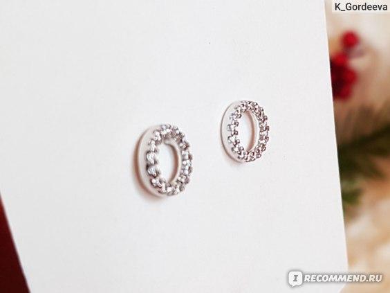 Серьги-пусеты SOKOLOV серебряные с фианитами Артикул: 10199540 фото