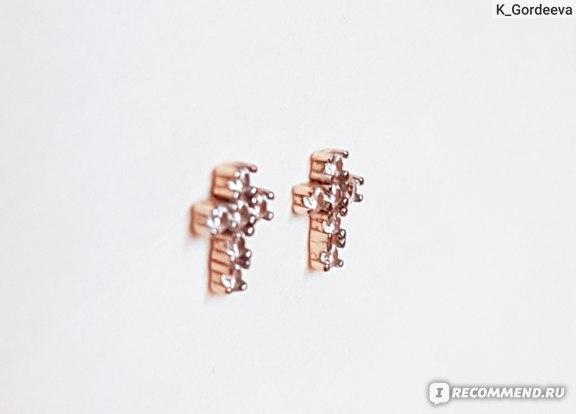 Золотые серьги SUNLIGHT пусеты с фианитами АРТИКУЛ: 235563