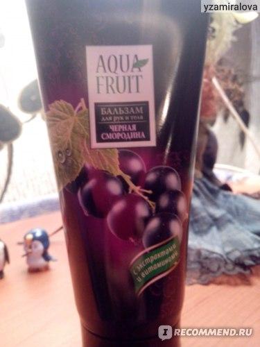 Бальзам для рук и тела Aquafruit  Черная смородина фото