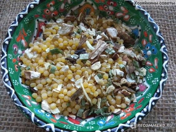 суп Yelli с белыми грибами и пастой