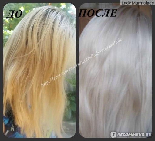 Тонирование волос безаммиачной краской Эстель фото ДО и ПОСЛЕ