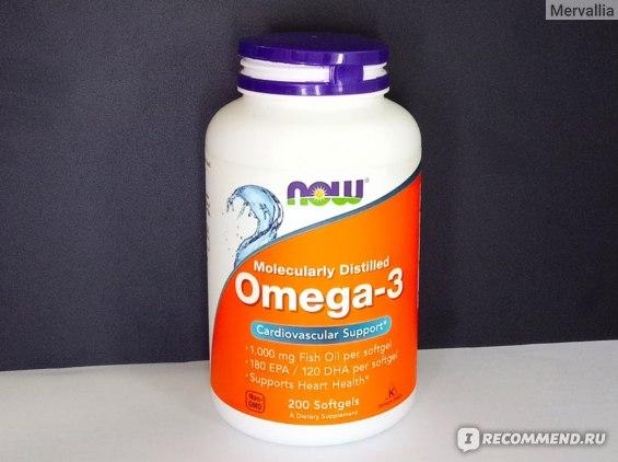 БАД Now Foods Omega-3 фото