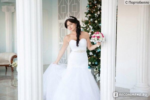 Свадебное платье AliExpress Sexy Mermaid Strapless Lace Up White Ivory Tulle Bridal Gown Wedding Dress фото