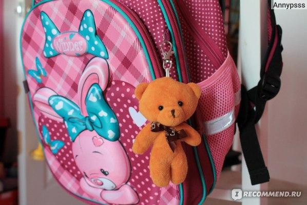 Рюкзак школьный Winner с 3D рисунком и мягкой игрушкой фото