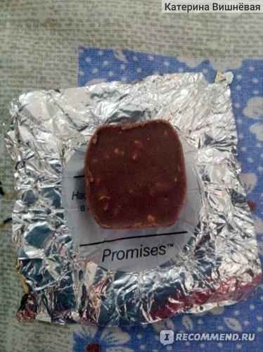 Шоколад Dove promises Молочный с миндалем и карамелью фото