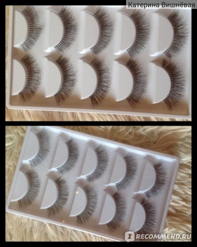 Накладные ресницы Aliexpress 10 Pieces/1 set Natural Sparse Cross Eye Lashes Extension Makeup Long False Eyelashes MX фото