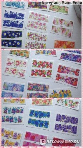 Стикеры на ногти Aliexpress 50pcs Hot New Flower Manicure Tools Nail Art Water Stickers DIY Full Tips Decals Decorations Stamping Polish Tools XF1372-1421 фото