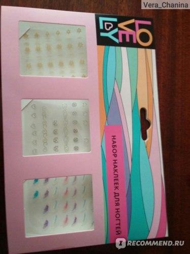 Наклейки для ногтей Fix Price Lovely фото