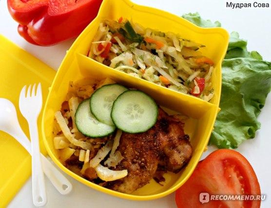 Ланч-бокс AliExpress Plastic Cartoon Lunchbox Bento Lancheira Container for Food Microwave Cutlery фото
