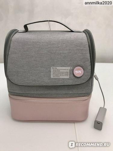 Стерилизатор 59S портативный ультрафиолетовый универсальный в виде сумки UVC LED P14 Pink фото