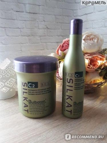 Лосьон для волос Silkat от выпадения C2 Bulboton BES (Италия) фото