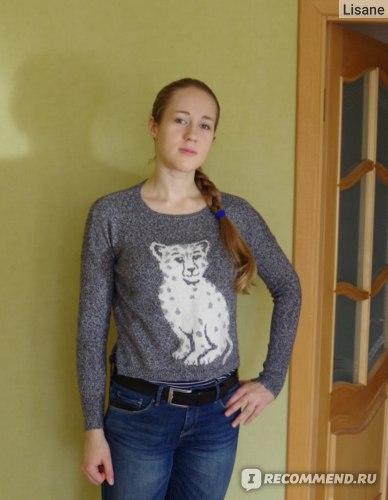 Джемпер женский Hollister Snow Leopard Intarsia Sweater фото