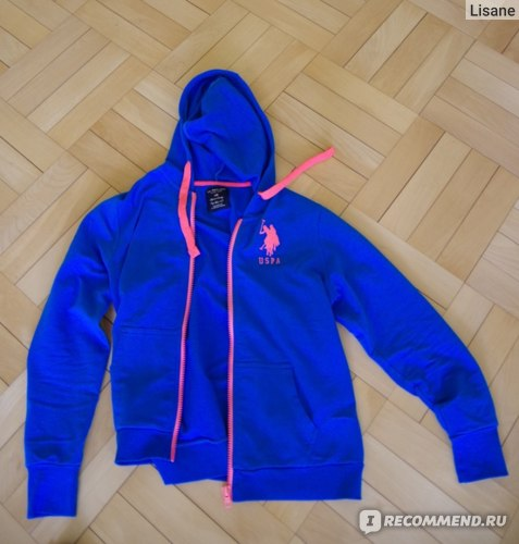 Толстовка US Polo  Juniors French Terry Zip Front Hoodie фото