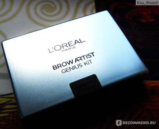 Набор для коррекции бровей L'Oreal Paris BROW ARTIST воск и тени фото