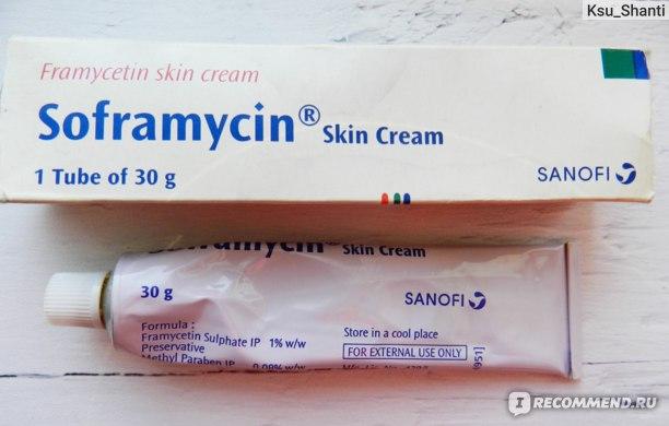 Крем Sanofi India Ltd Soframycin Skin Cream (при ожогах, ранах, порезах). фото