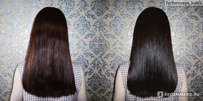 Краска для волос Nouvelle Hair Color 5/53 ДО и ПОСЛЕ длина