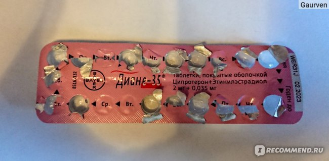Контрацептивы Schering AG Диане-35 фото
