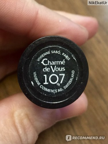 Губная помада Vivienne sabo Charme de Vous  фото