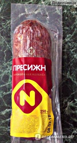 Колбаса сырокопченая Останкино Престиж по-останкински фото