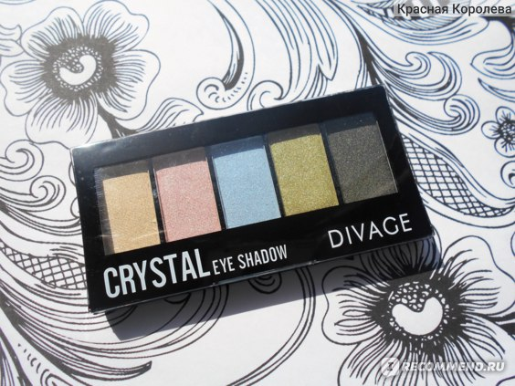 "Палетка теней для век Divage ""Crystal"" фото"