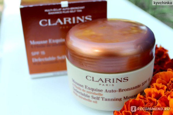 Автозагар Clarins Delectable Self Tanning Mousse with Mirabelle Oil фото