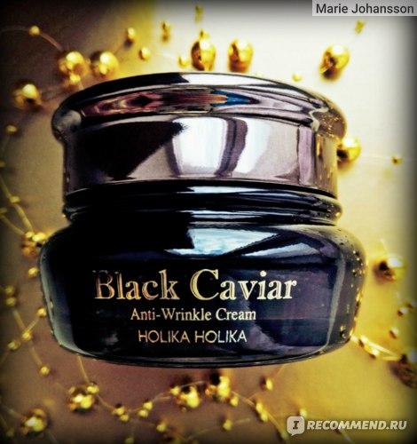 Антивозрастной крем для лица Holika Holika Black Caviar Anti Wrinkle Cream.