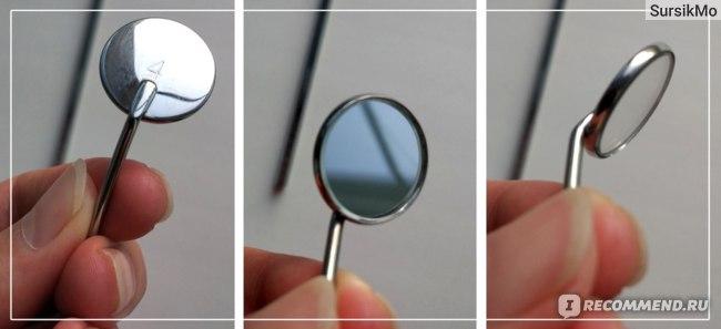 Стоматологическое зеркало Aliexpress 1 Mirror + 1 Handle Copper Mouth Mirror Dentist Tools Oral care Dental Oral Hygeine Mouthmirror фото