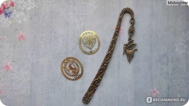 Закладка для книг Aliexpress Cute Kawaii Gold Metal Bookmark Fashion Bird фото