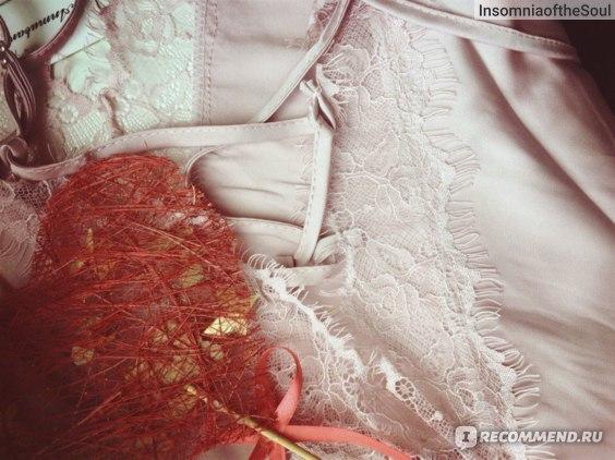 Сорочка Aliexpress sexy women nightwear mini nightgowns tempatation deep v straps skirts free shipping summer style 2015 real silk sleepwear hot фото