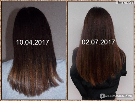 волосы в начале и в завершении использования этой маски
