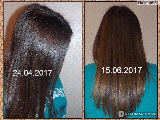 """волосы: маску использовала по всей длине (на второй день выглядят еще """"реже"""" из-за эффекта склеивания)"""