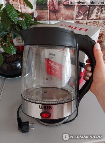Электрический чайник Leben модель 475-157 фото