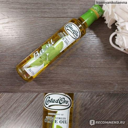 Оливковое масло Costa d'Oro Extra Vergine  нерафинированное со вкусом и ароматом базилика фото