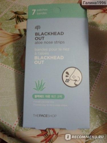 Очищающие полоски для носа The Face Shop Blackhead Out Aloe Nose Strips 7ea фото