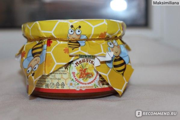 Мёд Фитотерапевт с Облепихой «Мишутка» фото