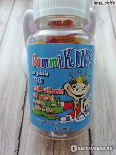 БАД Gummi King Мультивитаминно-минеральная добавка с овощами, фруктами и волокнами для детей фото