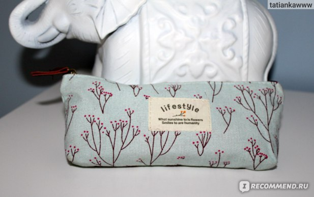 Косметичка Aliexpress   Hot Sale New Flower Floral Pencil Pen Canvas Case Cosmetic Makeup Tool Bag Storage Pouch Purse фото