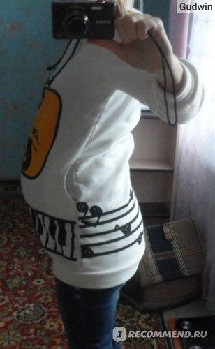 Толстовка AliExpress Women Music Hoodie Coat Funny Earphone фото