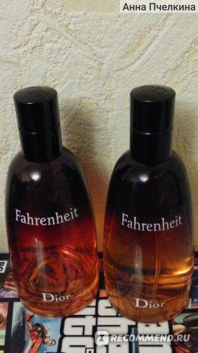 Слева парфюм из duty free, справа - купленный в России