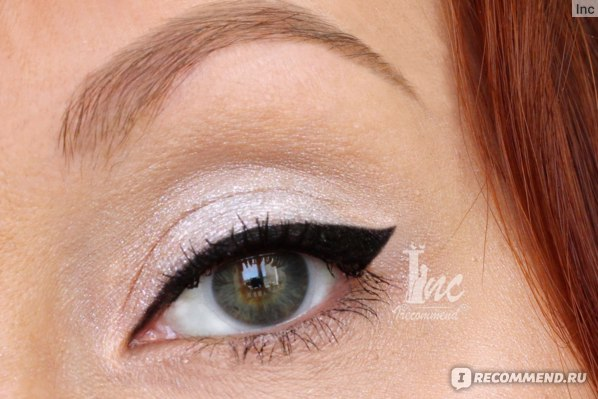 Подводка-фломастер для глаз L'Oreal Super Liner Perfect Slim, Кремовая подводка для глаз NYX Holographic Halo Cream Eyeliner в качестве теней