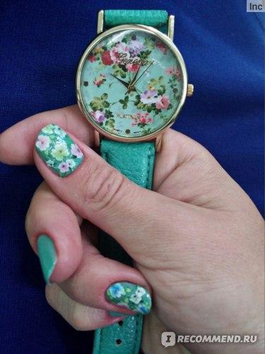 женские часы с цветами Geneva