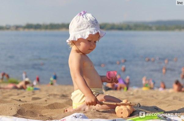 """отзыв Солнцезащитный крем Garnier Ambre Solaire """"Малыш в тени"""" SPF 50+"""