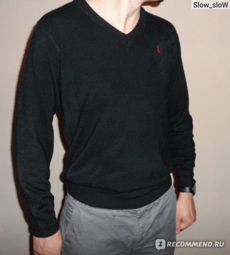 Пуловер AliExpress Ральф Лорен Man Knitting Sweater Leisure V-collar фото