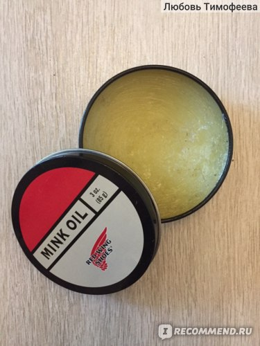Масло для обуви Red Wing Shoes Mink Oil - отзывы