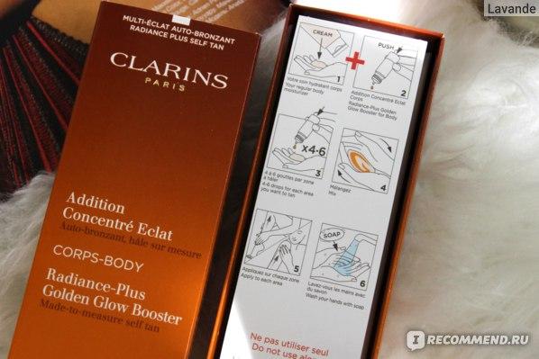 Концентрат с эффектом искусственного загара для тела Clarins Addition Concentre Eclat Corps Radiance-Plus Golden Glow Booster for Body фото