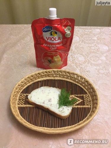 Сыр плавленый Valio Viola Ветчина и пармезан фото