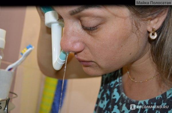 Физраствор вытекает из соседней ноздри