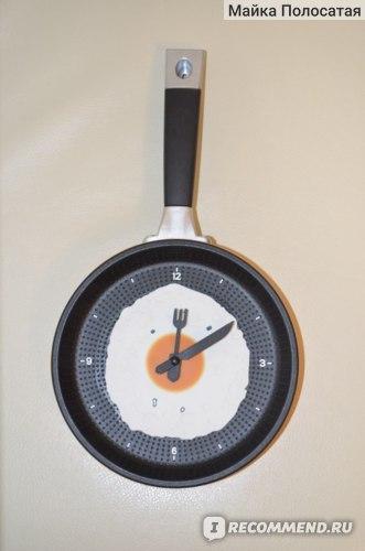 Кухонные часы - сковорода Aliexpress LOVECITY HOME Creative Omelette Fry Pan Kitchen Fried Egg MINI Design Wall Clock Decor children's gift for Christmas фото