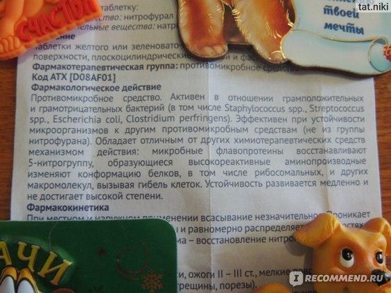 фармакологическое действие фурацилина